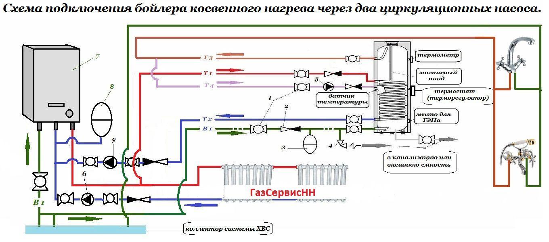 правильная схема подключения га к насосной станции